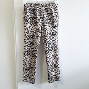 Gymboree black and tan leopard print pants